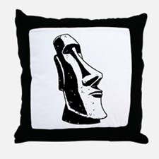 Easter Island Head Throw Pillow