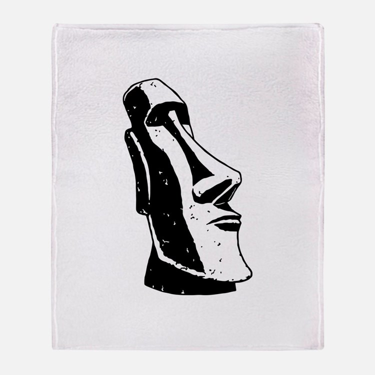 Easter Island Head Throw Blanket