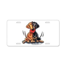 Smooth Dachshund Lover Aluminum License Plate
