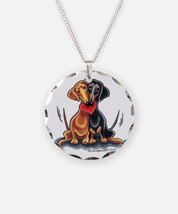Smooth Dachshund Lover Necklace