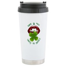 Have A Happy - Shamrock Lips Travel Mug