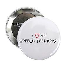 I Love Speech Therapist Button