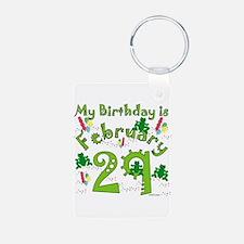 Leap Year Birthday Feb. 29th Keychains