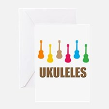 ukulele ukuleles Greeting Card