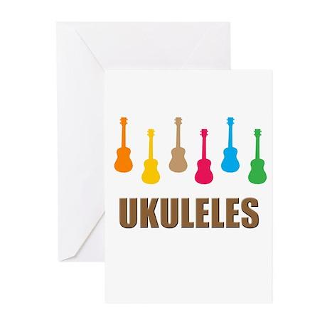 ukulele ukuleles Greeting Cards (Pk of 10)