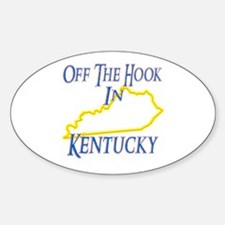 Off the Hook in KY Sticker (Oval)