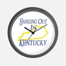 Hanging Out in KY Wall Clock
