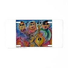 Music, Bright, colorful, Jazz Aluminum License Pla