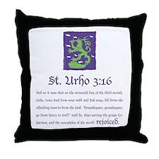 St. Urho 3:16 Throw Pillow