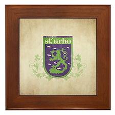 St. Urho Coat of Arms Framed Tile