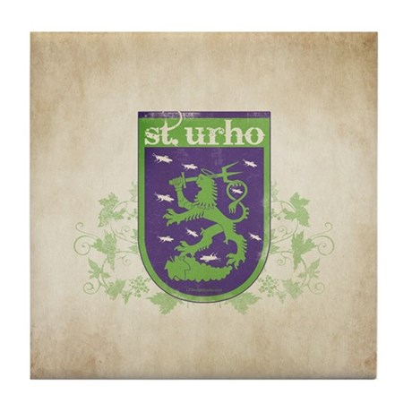 St. Urho Coat of Arms Tile Coaster