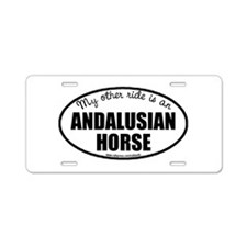 Andalusian Horse Aluminum License Plate