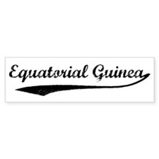 Vintage Equatorial Guinea Bumper Bumper Sticker