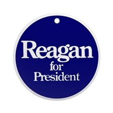The Reagan For President Ornament (Round)