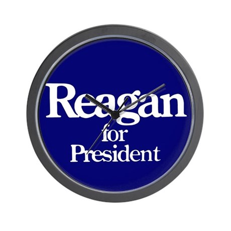 The Reagan For President Wall Clock