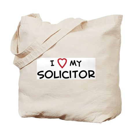 I Love Solicitor Tote Bag