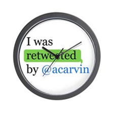 Cute I was retweeted by %40acarvin Wall Clock