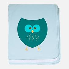 Baby Turquoise Owl baby blanket