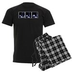 Fencing Thrust Sequence Men's Dark Pajamas