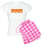 Orange Fencer's Thrust Women's Light Pajamas