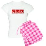 Red Fencing Thrust Women's Light Pajamas