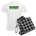 Green Thrust Men's Light Pajamas