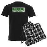Green Thrust Men's Dark Pajamas