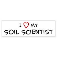 I Love Soil Scientist Bumper Bumper Sticker