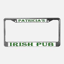Patricia's Irish Pub License Plate Frame