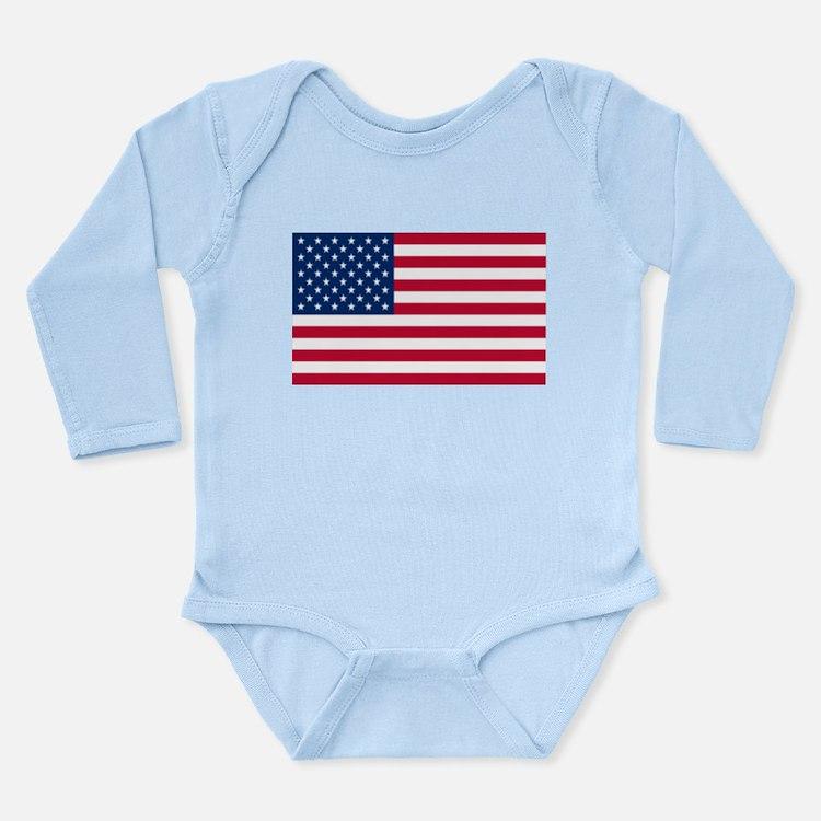 American Flag Long Sleeve Infant Bodysuit