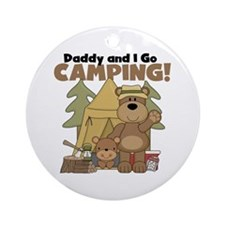 Daddy and I Go Camping Ornament (Round)