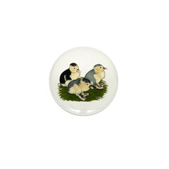 Blue Magpie Ducklings Mini Button (10 pack)
