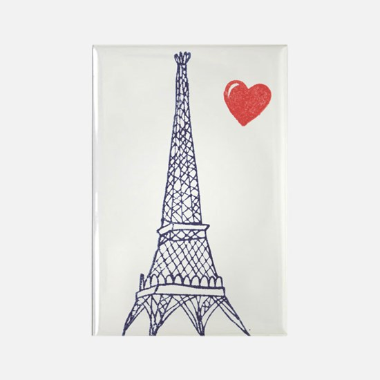 Paris in Love - Rectangle Magnet
