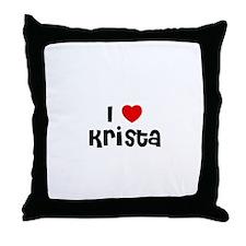 I * Krista Throw Pillow