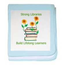 Sunflowers & Books 4 Libraries baby blanket
