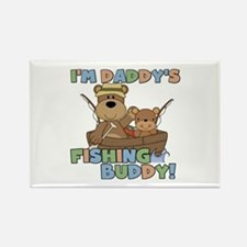 Bears Daddy's Fishing Buddy Rectangle Magnet