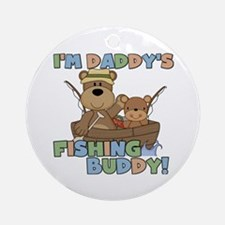 Bears Daddy's Fishing Buddy Ornament (Round)