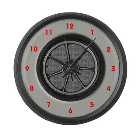 Car Tire and Hub Cap Large Wall Clock