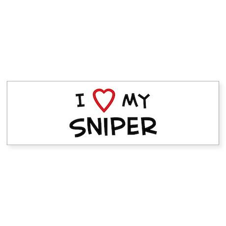 I Love Sniper Bumper Sticker