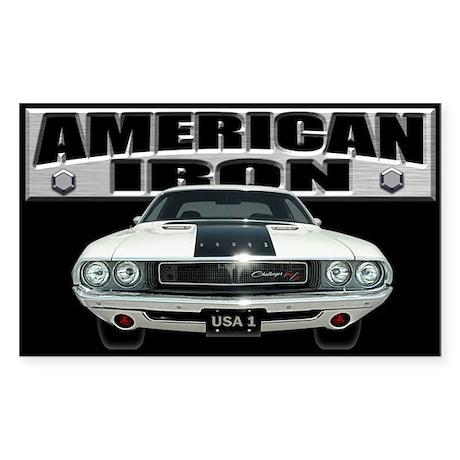 American Iron - Challenger Sticker (Rectangle)