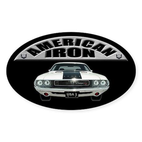 American Iron - Challenger Sticker (Oval)