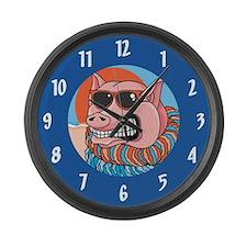 Funny Pig Large Wall Clock