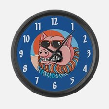 Funny Pig Large Wall Clock