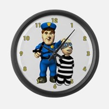 Police Officer Large Wall Clock