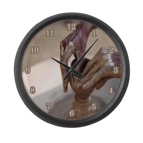 Pottery Large Wall Clock