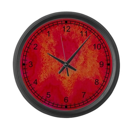 Rage Red Large Wall Clock