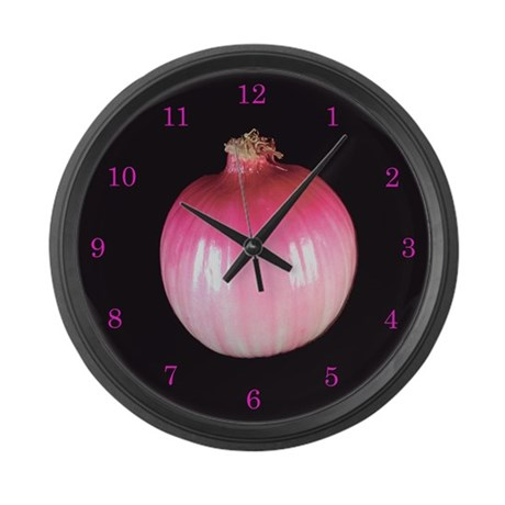 Red Onion Large Wall Clock