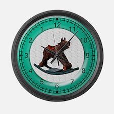 Rocking Teddy Bear Large Wall Clock