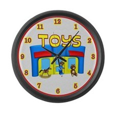 Toy Store Large Wall Clock