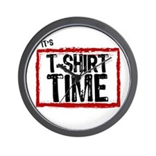 It's T-Shirt Time Wall Clock